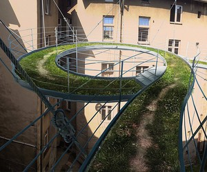 Zalewski Designed a Path Suspended in the Air