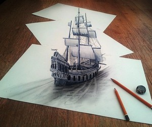 3D Drawings on Flat Sheets of Paper by Ramon Bruin