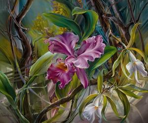 Vie Dunn-Harr Flower Paintings