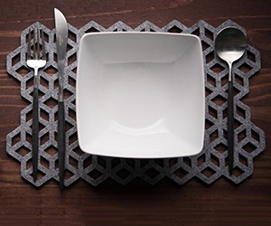 Laser Cut Wool Placemats by Alljoy Designs