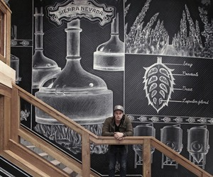 Amazing Chalk Mural At A Beer Brewery