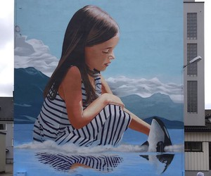 Mural by Artist Bart Smeets in Norway