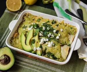 Avocado Chicken Suiza Enchilada