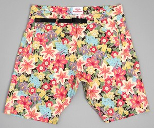 Battenwear Overhang Shorts Lily Print by Hickorees