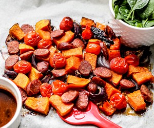 Butternut Squash and Chorizo Salad