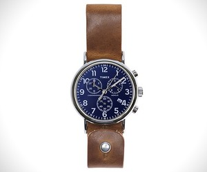 Leather Timex Chrono Cobalt