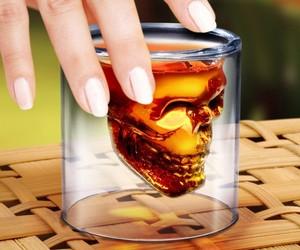 DOOMED Crystal Skull Shotglass