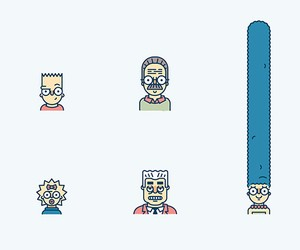 86 known Springfield residents as Line Icons