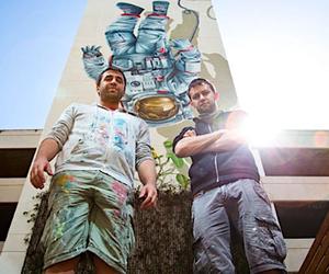 New Mural by Street Artists NEVERCREW in LA