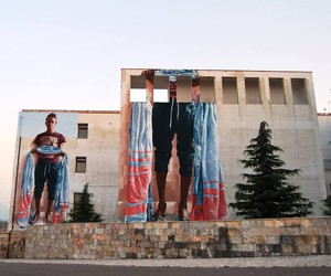 """Ibra"" - New Mural by Artist Fintan Magee in Italy"