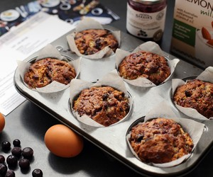 Easy Blueberry Jam Muffins