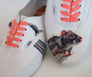 Embroidered Artworks on Sneakers & Rackets