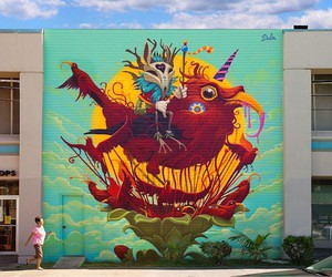 """""""Endangered Birth"""" Vibrant Mural by DULK in Miami"""