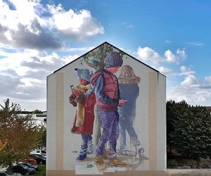 New Mural by Street Artist Fintan Magee in France
