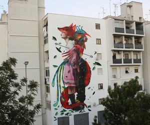 """First Fire"" - Mural by Julieta XLF & Bifido"