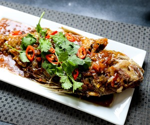 Fried Snapper in Tamarind Sauce