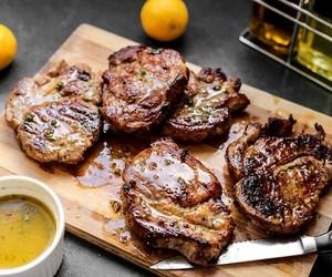 Grilled Pork Loin Chops with Lemon Vinaigrette