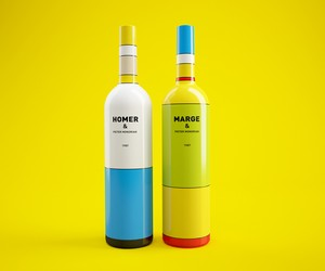 The Simpsons Inspired Wine Bottles
