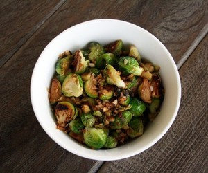 Garlic Ginger Brussel Sprouts