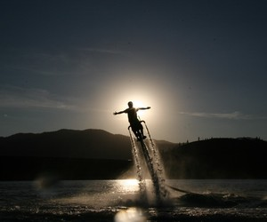 Jetovator. The Flying Water-Powered Bike