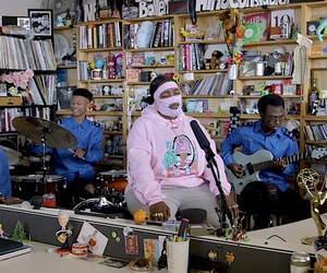 Leikeli47 live at NPRs Tiny Desk Concerts