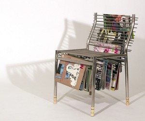 Furniture Art: Magazine Rack Chair