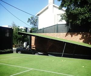 Tennis Court Opens Up To Underground Parking