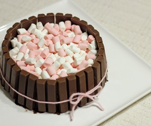 Chocolate Wafer Mud Cake with Marshmallows