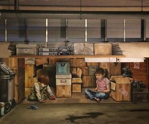 3D Mural Painting by Street Artist Leon Keer