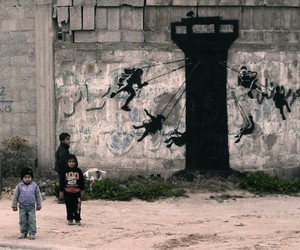 New Streetart-Pieces by BANKSY in Gaza