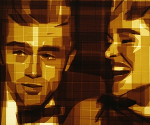 Classic Hollywood Moviestars made of Packing Tape