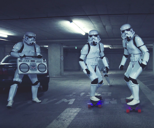 Stormtroopers Longboarding On Their Day Off