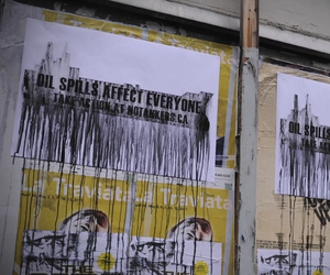 Oil Spill Posters in Canada by NGO Notankers