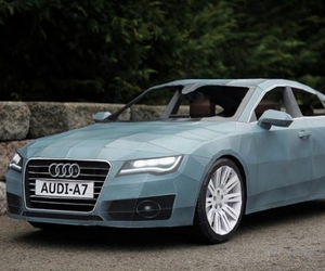 Audi A7 Paper Car by Taras Lesko