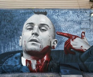 Sick - Taxi Driver-Mural by Artist BK Foxx in NYC