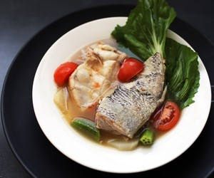 Fish Stew in Miso and Tamarind Soup