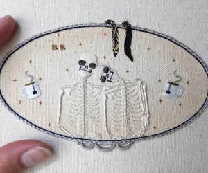 SKELETON EMBROIDERIES BY TINYCUP NEEDLECUP