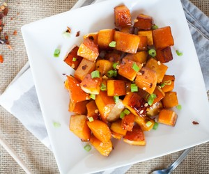 Sweet Soy Roasted Butternut Squash