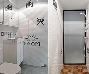 Mosaic Tiled Space Invaders Apartment