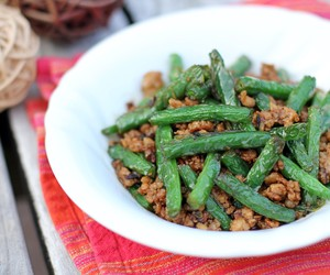 Stir-fried Green Beans w/ minced Pork in XO Sauce