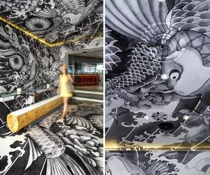 Yakuza Restaurant Interior by Claire Leina