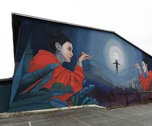"""Street art in Slovenia: Mural """"Balance"""" by Arten"""