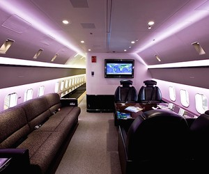 A Boeing 787 transformed into a VIP Living Space