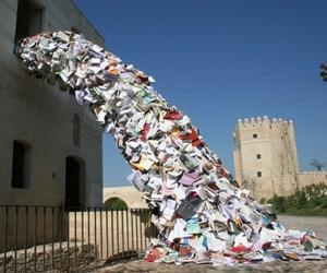 "Book Sculptures ""Biografies"" by Alicia Martin"