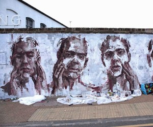 """Nemesis"" New Mural by Borondo in London"
