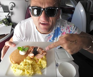 Casey Neistat is pampered by Qatar Airways