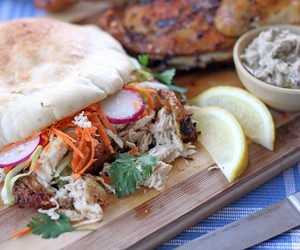 Chermoula Grilled Chicken served on Pita Bread