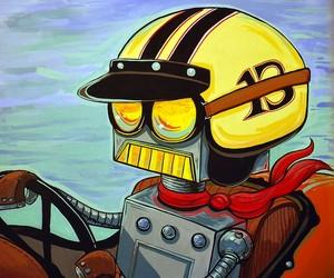 Crusin Robot Painting