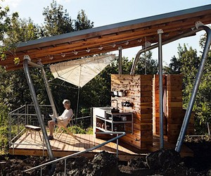 Two minimalist pavilions
