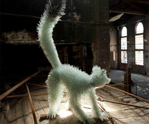 Animal Sculptures Made From Shattered Glass